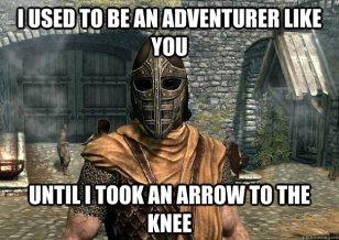 arrow to the knee
