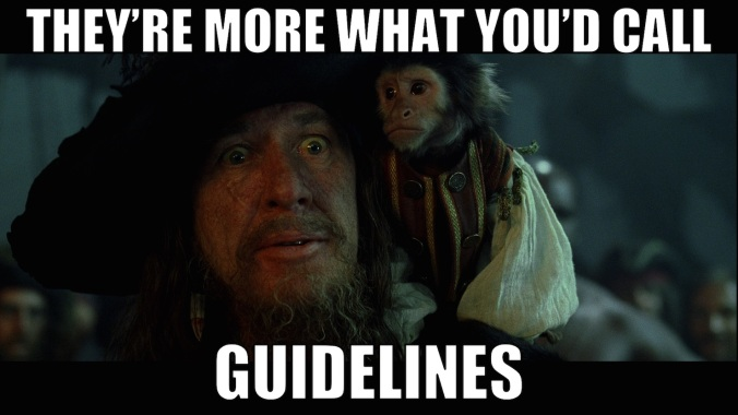 Image result for pirates of the caribbean just guidelines